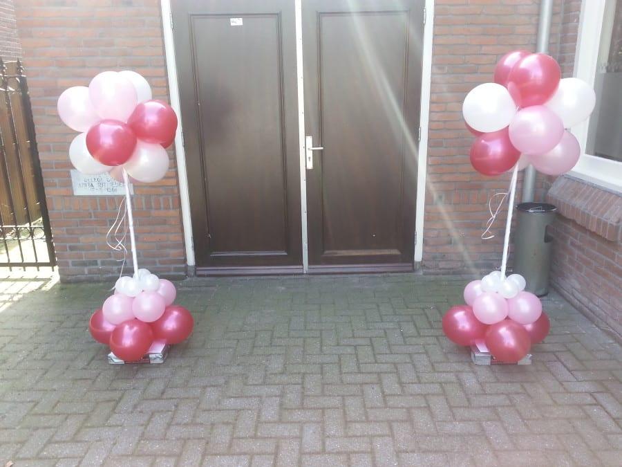 ballonnen bruidspilaar