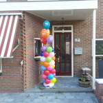 Ballon pilaar + heliumballon