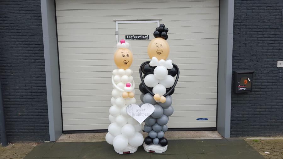 Ballonnen bruidspaar