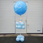 Geboorte ballon met poppetje