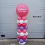 Ballonpilaar met opdruk