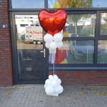 Ballonpilaar + folie hart